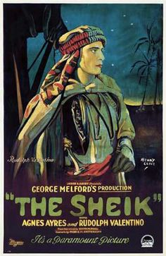 Poster for the Sheik, starring Rudolph Valentino, Artwork by Henry Clive c.1921