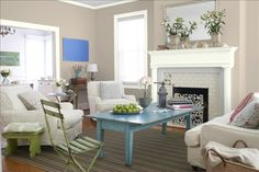 Paint color: Benjamin Moore Ashen Tan 996...thinking the color for living room