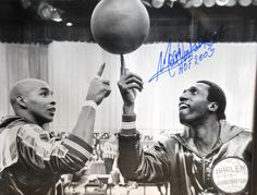Harlem Globetrotters from my childhood -Meadowlark Lemon and Curly Neal