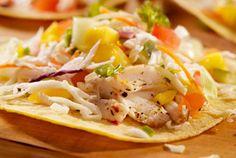 Pan-Fried Catfish Tacos with Mango Salsa