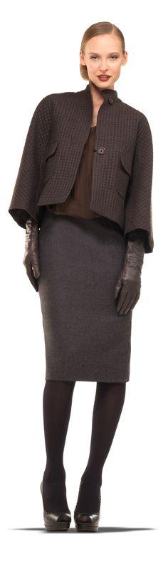 Slim Wool Gabardine Skirt