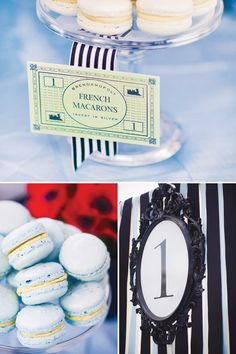 Korean First Birthday Party: Elegant Monopoly Theme - By Hostess With the Mostess...(((I LOVE LOVE LOVE the details for this party... You can pull a lot of the details out for decorating the house or having your own party... The black frame is GORG... The stripes are TOTALLY FABULOUS, the flowers are perfection & the desserts are PERFECTLY POSH!!! All stuff I would definitely serve!!!