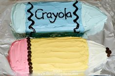 {Back to School} Pencil and Crayon Cake