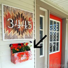 How to affix your mailbox planter to the side of your house! {Sawdust and Embryos} #seriouslystrong