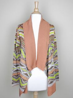ON SALE TODAY ONLY! REGULAR PRICE IS $57.99!! 12/16 ONLY!  Deep Coral and Lime Green Aztec Print Cardigan - $43.49 : FashionCupcake, Designer Clothing, Accessories, and Gifts