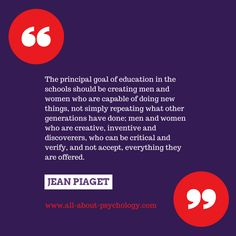 Super quote by Jean Piaget. #JeanPiaget #DevelopmentalPsychology #psychology