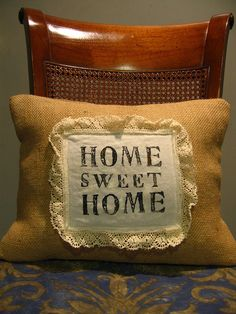 12 x 16 Small Throw Pillow Natural Burlap  Lumbar by ItsSoVintage, $11.00