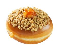 Caramel Dutch Apple Pie Doughnut: Filled with a chunky cinnamon apple filling and topped with caramel icing, a crunchy streusel and a dollop of cinnamon apple filling. (US & CAN shops only starting 3/31)