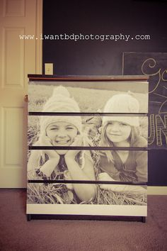 amazing dresser makeover using engineering prints!  from BD photography blog
