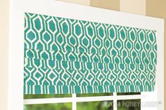 Dress up your curtains with fabrics in bold patterns, bright colors, and trendy patterns for a look that will steal the show.
