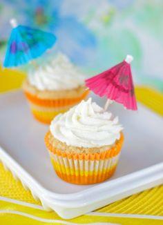 Vegan Pina Colada Cup Cakes