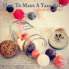 How To Make A Perfectly Round Yarn or Twine Ball