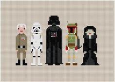 Pixel People - Star Wars - Enemies - PDF Cross-stitch Pattern $5