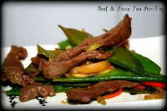 Chinese Food Take-in Recipes : Beef & Snow Pea Stir Fry