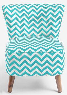 Aqua chevron striped chair!