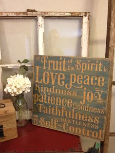 The fruit of the Spirit - Love this!