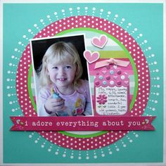 Lucky 8 punch layout #wermemorykeepers #scrapbooking #paperpunches #lucky8