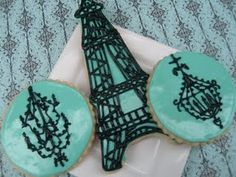 Beautiful cookies eiffel tower, french theme, bake, pari, france, cookies, christmas trees, eat cake, baby showers