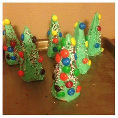 Ice Cream Cone Christmas Tree's