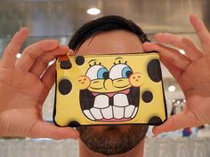 Sponge Bob pouch (MOSCHINO) now online! http://www.colette.fr/catalogsearch/result/index/category_id/12935/q/moschino/