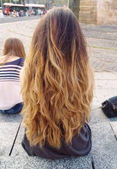 wavy light brown hair'