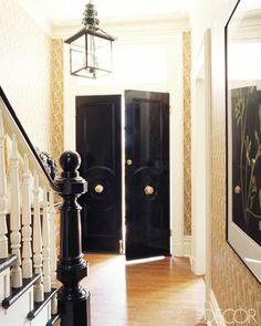 { black glossy interior front door }
