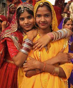 Rajasthan, India school girls