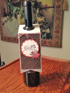 Thanksgiving Wine Tag, could be Christmas or anything