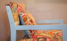 Shabby Chic Chair  Vintage Art Deco Turquoise by TheCowPelt, $375.00