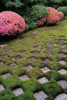 Garden of Tofuku-ji temple, Kyoto, Japan
