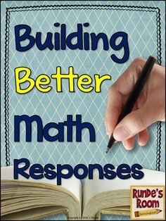 Building Better Math Responses - a resource developed to help your students communicate their thinking during problem-solving activities and open response questions in math.  Contains success criteria goals, assessment options, posters and bookmarks, scaffolded notes, and printable worksheets. $