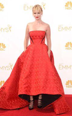 January Jones from 2014 Emmys: Red Carpet Arrivals   E! Online