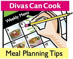 How to plan weekly menus for breakfast, lunch and dinner!