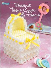 This Baby Bassinet Tissue Box Cover & Photo Frame makes for a heartfelt gift.