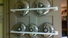 I like this idea. The lids to the pots and pans are always getting in the way in my cabinets