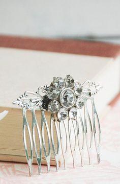 Rhinestone Hair Comb Bridal Spring Wedding