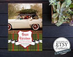 Awesome tartan inspired photo holiday cards. #cydconverse