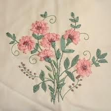 Silk Ribbon Embroidery, fun to do with pretty results.