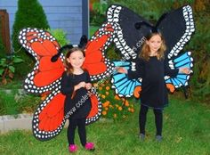 Homemade Butterfly Costume Designs: Homemade butterfly costume designs:  So my girls wanted to be butterflies for Halloween this year.  Well, I did not want to go and buy some cheap (or not