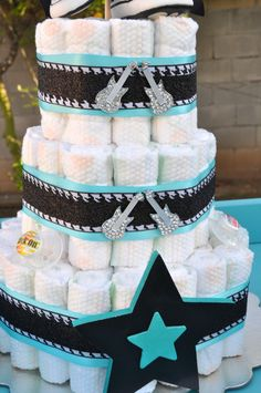 Rock a Bye Baby Shower: The cool rocking diaper cake