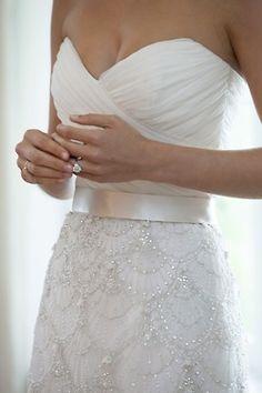 So pretty! wedding dressses, dream dress, pool, the dress, dreamdress, belt, gown, scallop, stunning dresses