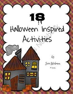 18 Halloween Inspired Activities from Sara Hickman on TeachersNotebook.com -  (59 pages)  - 18 Halloween Inspired Activities for numbers and letters, counting and science.  Great for preschool, home school and early education.