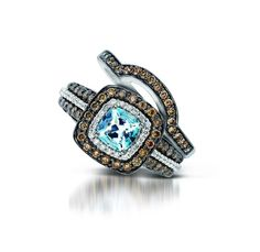 Matching Band for Le Vian's Sea Blue Aquamarine Ring- We love the non-traditional engagement rings and wedding bands!