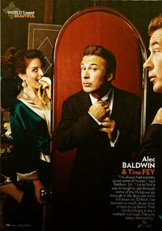 Alec Baldwin and Tina Fey for People Magazine, May 2012