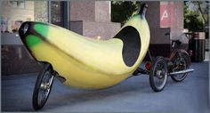 crazi car, funni stuff, banana car, bicycl, bananas, crazi ride, banana bike, funni car, thing