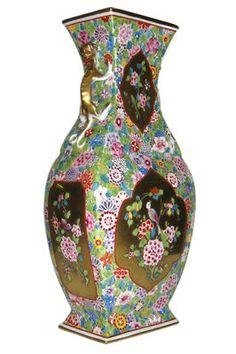 Antique Chinese Enameled Porcelain Vase from Dresden