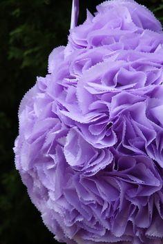 Wedding Pinata. Purple Flower Ball Pinata. Pomander. by AbitaAchie, $65.00
