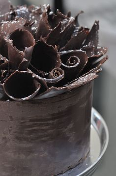 chocolate ruffle cake...