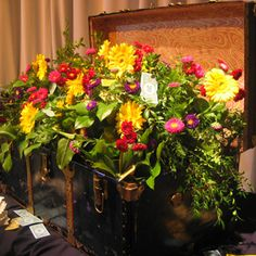 Community chest flower arrangement #Monopoly party monopoli parti