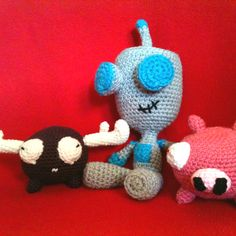 Crochet Invader Zim Patterns : Crochet on Pinterest Crochet Patterns, Beanie Hats and Crochet Baby ...